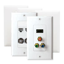 Multimedia Wallplates, Inserts, & Connectors