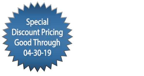 Intrasonic Technology: Special Discount Pricing Good Through April 30, 2019.