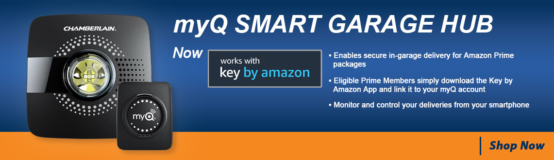 Chamberlain myQ Smart Garage Hub now works with Key by Amazon!