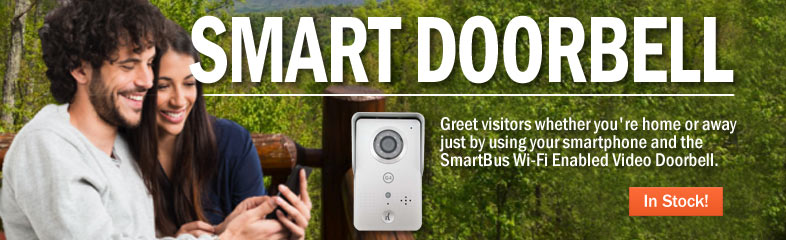 Smart Doorbell | Greet visitors whether you're home or away just by using your smartphone and the SmarBus Wi-Fi Enabled Video Doorbell. >> In Stock!