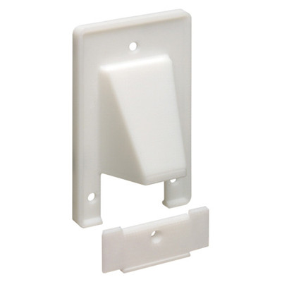 Arlington Reversible 2-Piece Cable Access Wallplate, 1-Gang