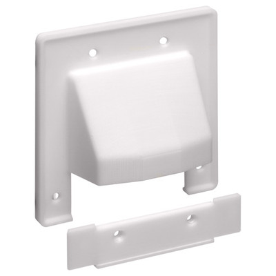 Arlington Reversible 2-Piece Cable Access Wallplate, 2-Gang