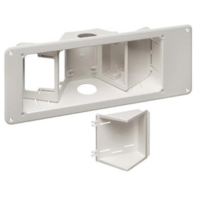 Arlington Recessed TV Box with Angled Openings