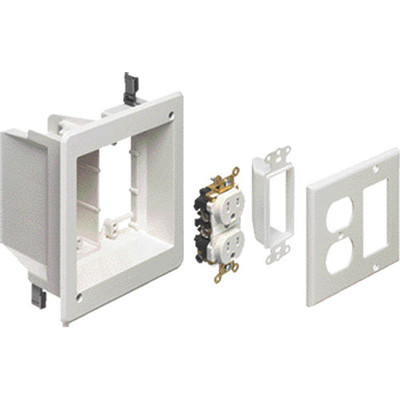 Arlington Recessed TV Box Kit for Power & Low-Voltage