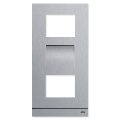 ABB-Welcome IP Video Outdoor Station Frame, Stainless Steel, 3 Modules