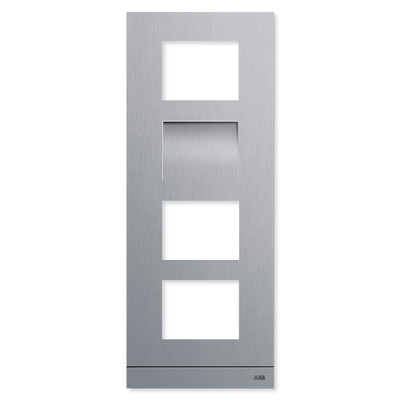 ABB-Welcome IP Video Outdoor Station Frame, Stainless Steel, 4 Modules