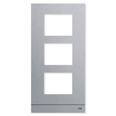 ABB-Welcome IP Outdoor Station Frame without A/V Module, Stainless Steel, 3 Gang