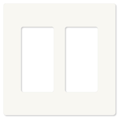 ABB-free@home Faceplate, 2-Gang,10 pack, White