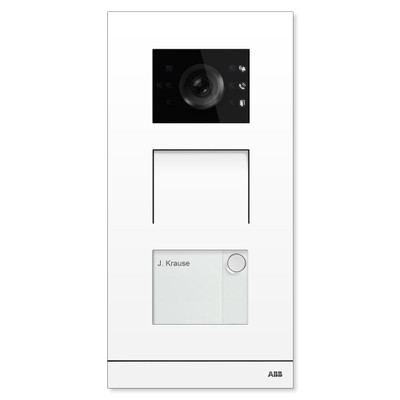 ABB-Welcome IP Video Outdoor Station, White, 1 Button