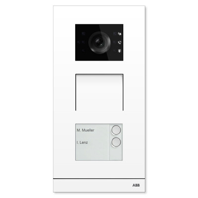 ABB-Welcome IP Video Outdoor Station, White, 2 Button