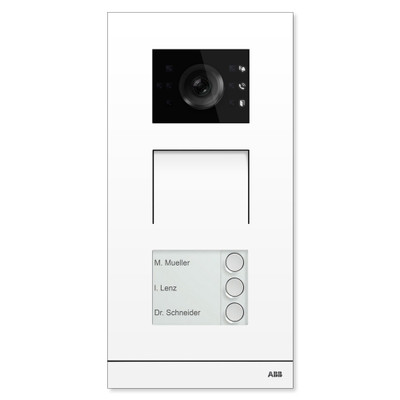 ABB-Welcome IP Video Outdoor Station, White, 3 Button