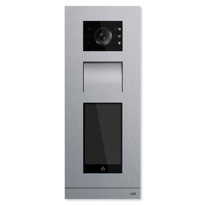 ABB-Welcome IP Video Outdoor Station, Touch 5 In., Stainless Steel, with Induction Loop