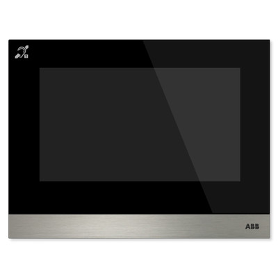 ABB-Welcome IP Touch 7 Inch, LAN + LAN Interface, with Induction Loop, Black