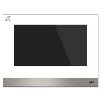 ABB-Welcome IP Touch 7 Inch, LAN + LAN Interface, with Induction Loop, White