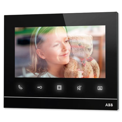 ABB Welcome Video Indoor Station, 7 Inch, Black