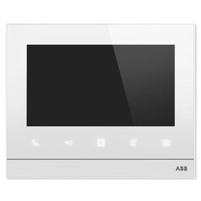 ABB Welcome Video Indoor Station, 7 Inch, White