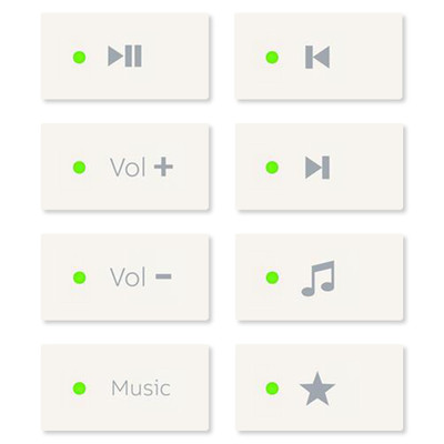 ABB-free@home Music Key Package for Keypad, 5 Pack, White