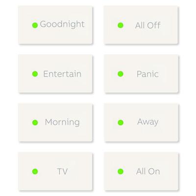 ABB-free@home Scene Key Package for Keypad, 5 Pack, White