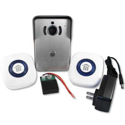 DoorBell Fon Wi-Fi Enabled Video iDoorbell Fon Kit, Silver