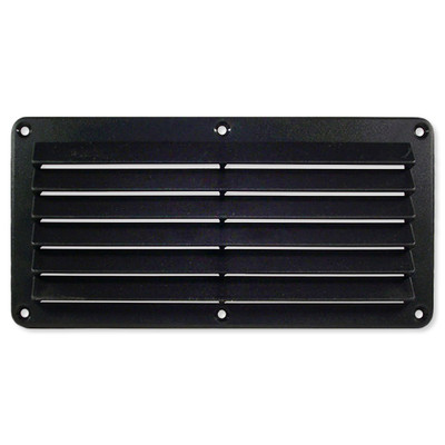 Cool Components Grill for 4x10 In. Openings, Plastic, Black