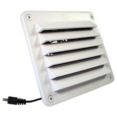 Cool Components HiFlo Lite Vent with Plastic Grill, White