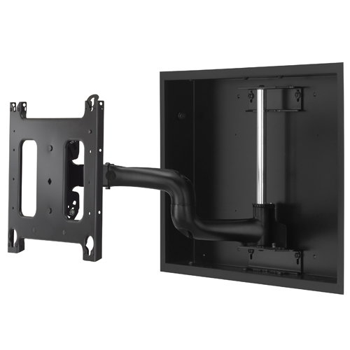 Chief large low profile in wall swing arm mount 22 in for Motorized swing arm tv mount