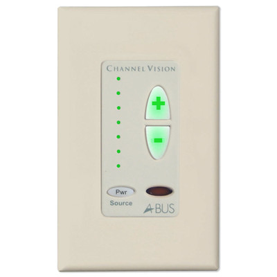Channel Vision A-BUS 1-Source Amplified Keypad, Almond