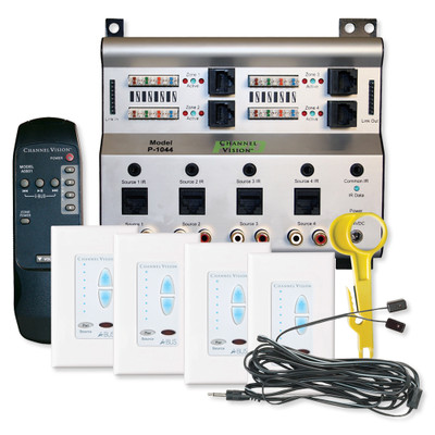 Channel Vision A-BUS Audio Distribution Kit, 4 Source/4 Zones