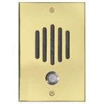 Channel Vision DP Door Speaker & Camera for Cat5 Intercom, Polished Brass (Open Box)