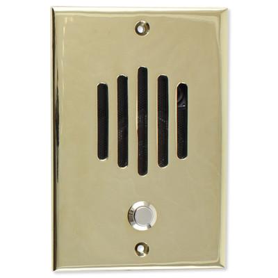 Channel Vision DP Door Speaker & Camera for Cat5 Intercom, Polished Brass (Open Box)