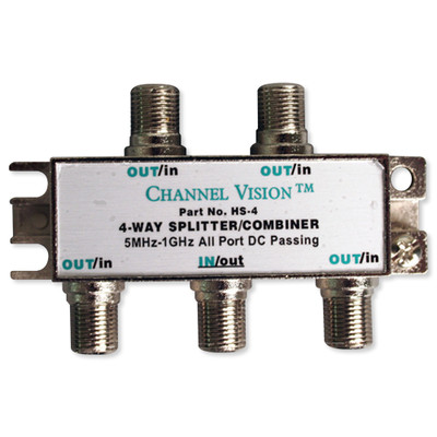 Channel Vision Splitter/Combiner, 1GHz, DC, 4-Way