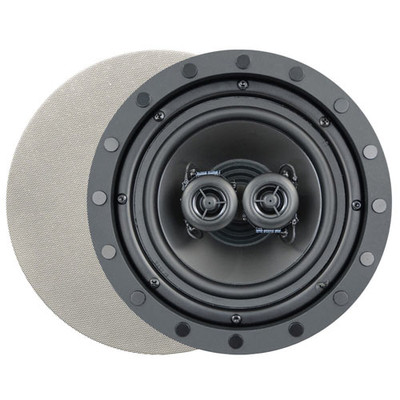 Channel Vision 6.5 In. Soprano ARIA Single Point Stereo In-Ceiling Frameless Speaker