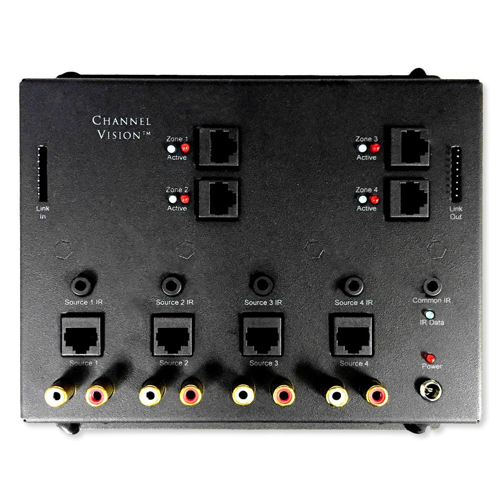 Channel Vision A-BUS Audio Distribution Hub, 4 Source/4 Zones