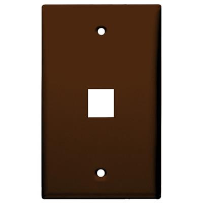 DataComm Keystone Wallplate, 1-Gang, 1-Port, Brown