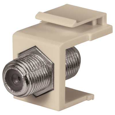 DataComm F Keystone Snap-In Connector, 1 GHz, Almond