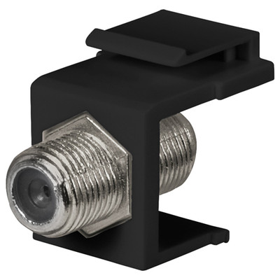 DataComm F Keystone Snap-In Connector, 1 GHz, Black