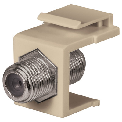 DataComm F Keystone Snap-In Connector, 1 GHz, Ivory