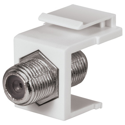 DataComm F Keystone Snap-In Connector, 1 GHz, White