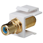 DataComm RCA to F Keystone Snap-In Connector, Blue Insert