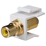 DataComm RCA to F Keystone Snap-In Connector, Yellow Insert
