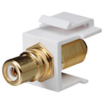 DataComm RCA to F Keystone Snap-In Connector, White Insert