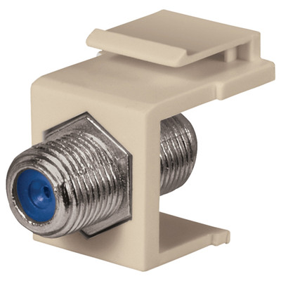 DataComm F Keystone Snap-In Connector, 2.4 GHz, Almond