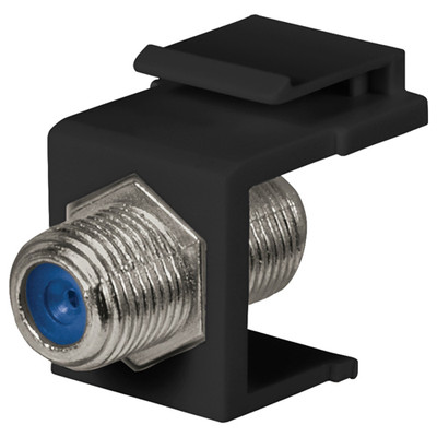 DataComm F Keystone Snap-In Connector, 2.4 GHz, Black