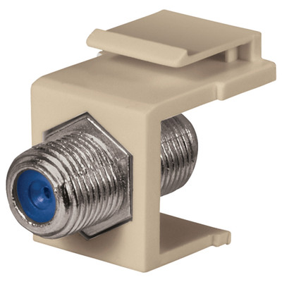 DataComm F Keystone Snap-In Connector, 2.4 GHz, Ivory