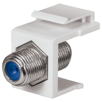 DataComm F Keystone Snap-In Connector, 2.4 GHz, White