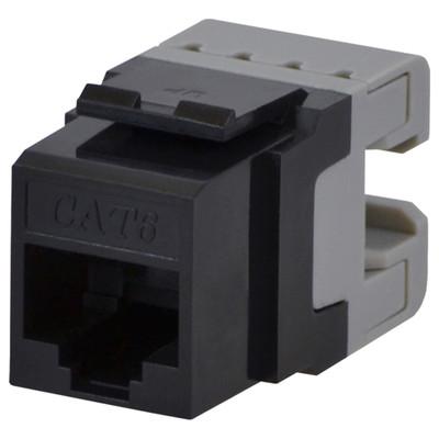DataComm Cat6 Keystone Snap-In Connector, Black