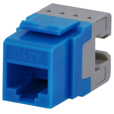 DataComm Cat6 Keystone Snap-In Connector, Blue