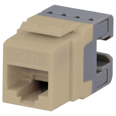 DataComm Cat6 Keystone Snap-In Connector, Ivory