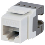 DataComm Cat6 Keystone Snap-In Connector, Brown