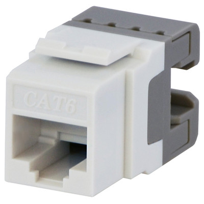 DataComm Cat6 Keystone Snap-In Connector, White